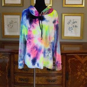 0218 Eye Candy Long Sleeve Hooded Sweatshirt